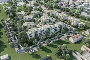 Die Wiro baut 147 Wohnungen in Thierfelderstraße (Grafik: Planungsbüro Albert Wimmer ZT GmbH aus Wien, (c) ZOOMVP.AT)