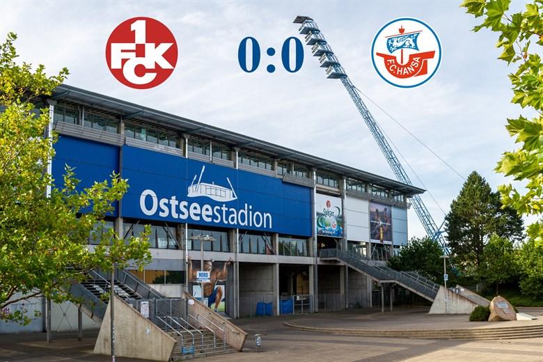 Hansa Rostock und Kaiserslautern trennen sich torlos