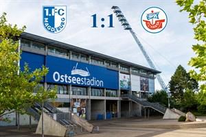 Hansa Rostock und Magdeburg trennen sich 1:1 (Symbolfoto: Archiv)