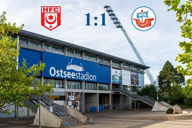Hansa Rostock und Halle trennen sich 1:1
