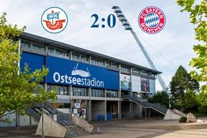 Hansa Rostock besiegt Bayern München II mit 2:0 (Symbolfoto: Archiv)