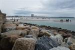 Sturmtief Hermine: Niedrigwasser in Warnemünde