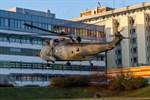 Marinehubschrauber Sea King am Südstadt-Klinikum