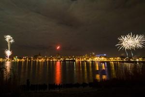 Silvester-Feuerwerk 2020 in Rostock