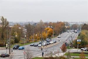 Auf der Vorpommernbrücke wird vom 18. Januar bis voraussichtlich zum 19. Februar 2021 ein Fahrstreifen je Richtung gesperrt (Foto: Archiv)