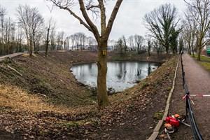 Im Rahmen der Neugestaltung der Wallanlagen wurden auf der Dreiwallbastion rund um die Teufelskuhle zahlreiche Bäume gefällt