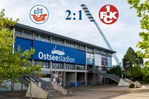 Hansa Rostock besiegt Kaiserslautern mit 2:1 (Symbolfoto: Archiv)