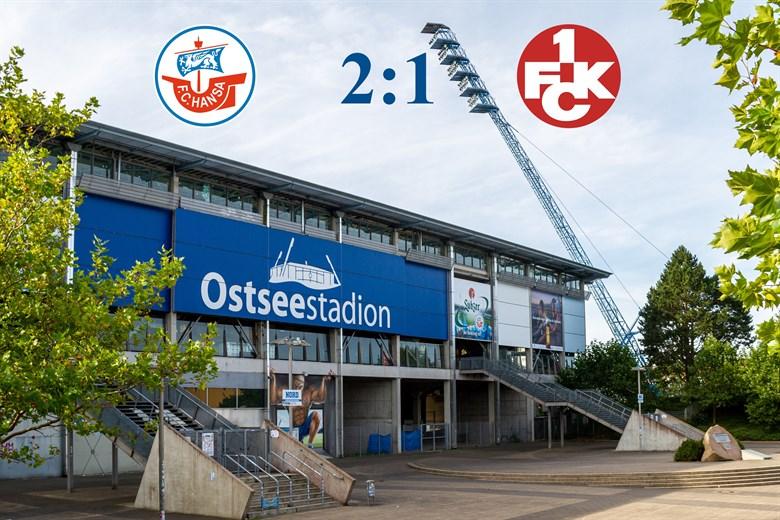 Hansa Rostock besiegt Kaiserslautern mit 2:1