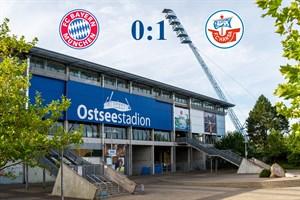 Hansa Rostock besiegt Bayern München II mit 1:0 (Symbolfoto: Archiv)