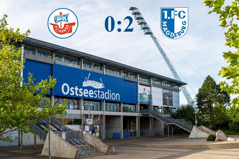 Hansa Rostock unterliegt Magdeburg mit 0:2