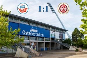Hansa Rostock und Wehen Wiesbaden trennen sich 1:1 (Symbolfoto: Archiv)