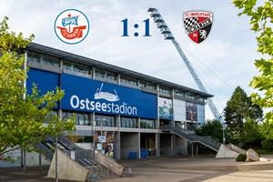 Hansa Rostock und Ingolstadt trennen sich 1:1 (Symbolfoto: Archiv)