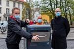 Solarpapierkörbe für eine saubere Innenstadt