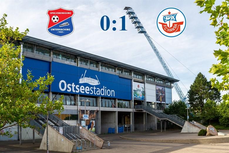 Hansa Rostock besiegt Unterhaching mit 1:0