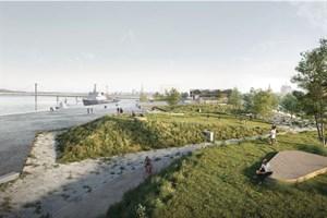 So könnte der Stadthafen Rostock aussehen (Entwurf: A24 Landschaft)
