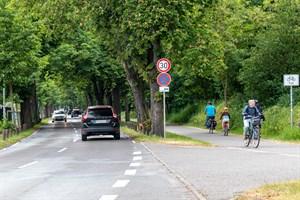 Im westlichen Teil der Parkstraße Warnemünde gilt jetzt Tempo 30