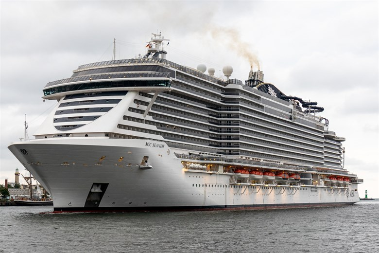 MSC Seaview – Erstanlauf in Rostock-Warnemünde