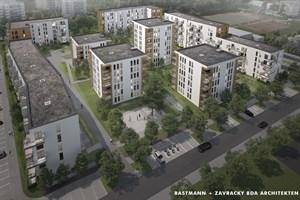 So soll das neue Wiro-Wohnquartier in Lichtenhagen aussehen (Visualisierung: Bastmann + Zavracky BDA Architekten GmbH)